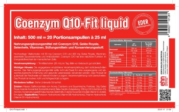 EDER Coenzym Q 10-Fit liquid