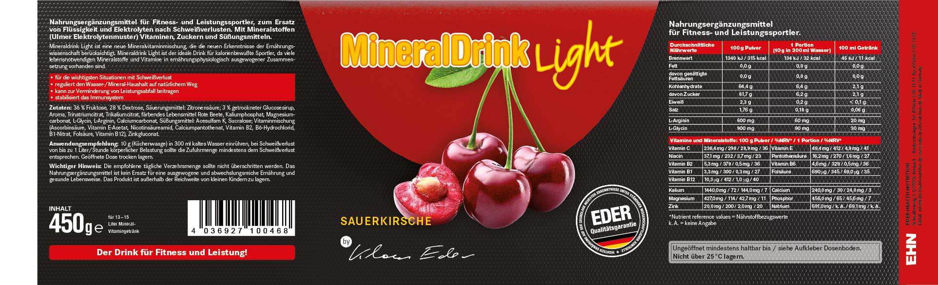 Mineraldrink light - sour cherry